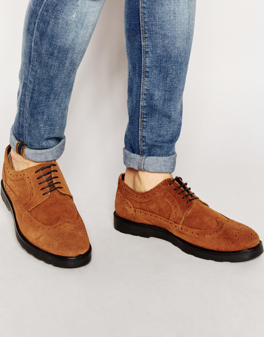 Casual Lace Up Shoes In Tan Leather With Contrast Sole - Tan Asos TmyHxYs