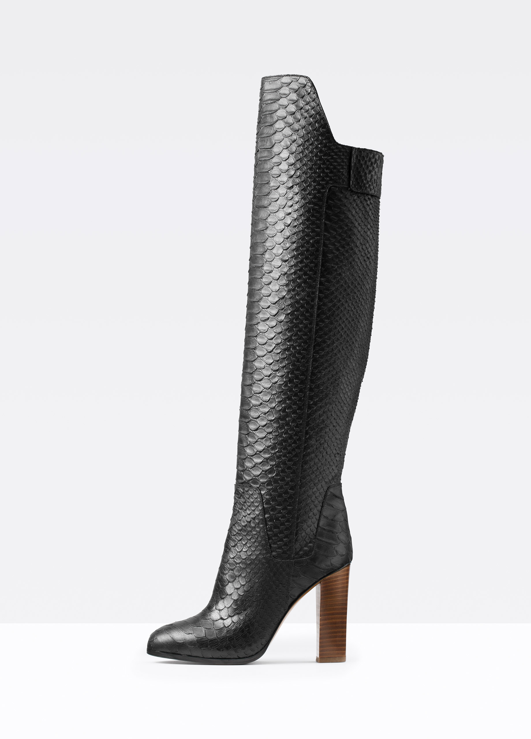 Lyst Vince Dempsey Leather Knee High Boots In Black