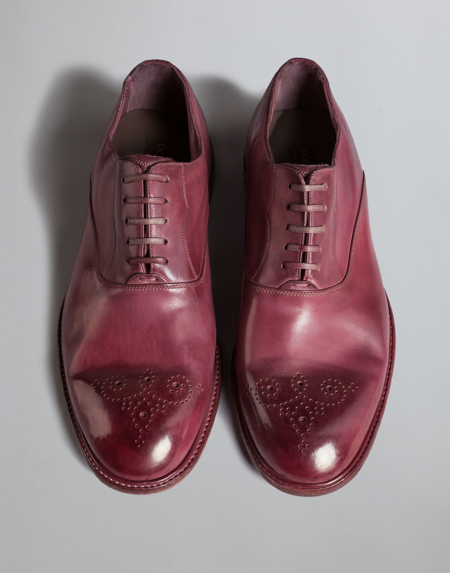 dolce gabbana dip dyed calfskin oxford shoe in pink for