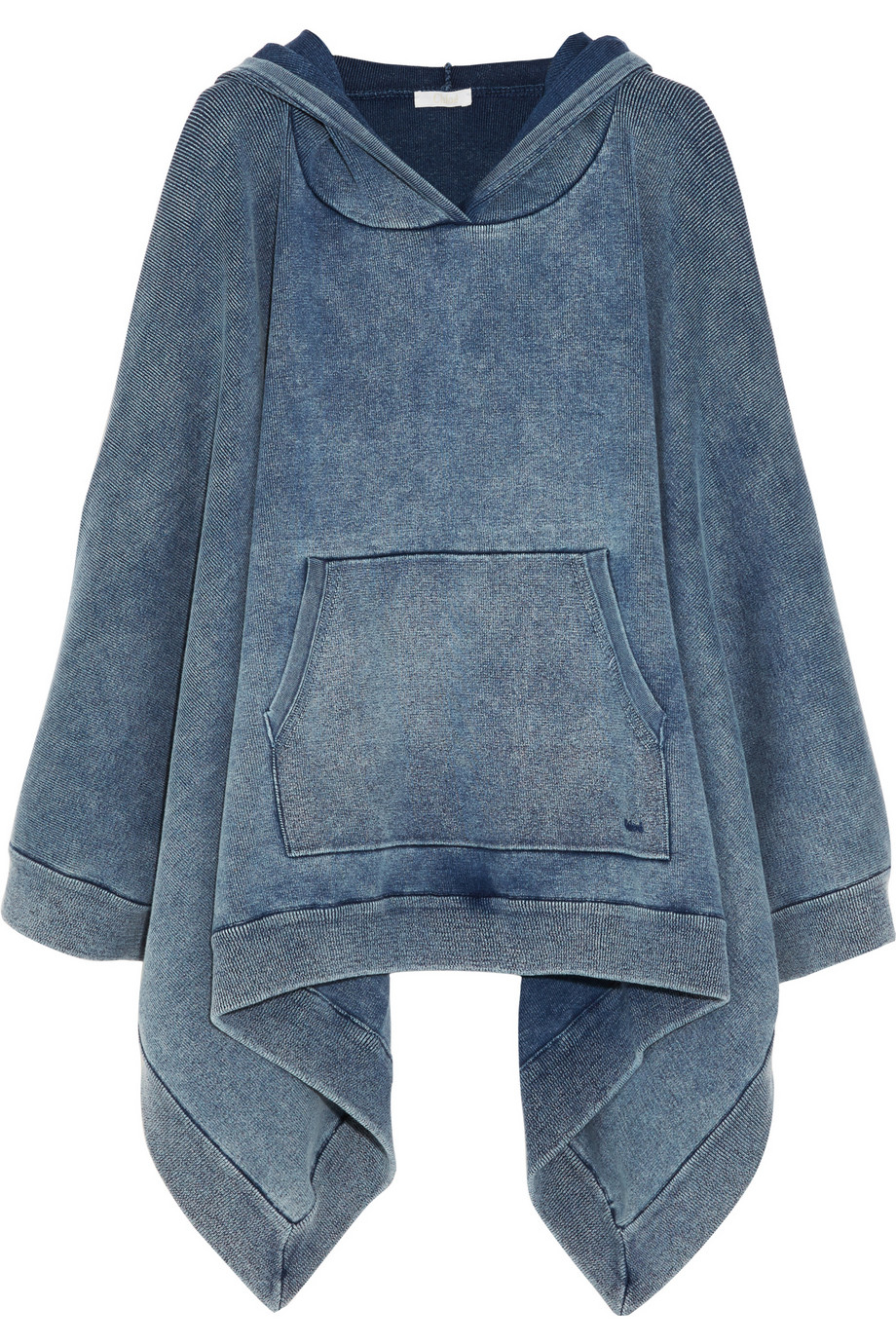 Lyst Chlo 233 Denim Effect Cotton Blend Jersey Hooded