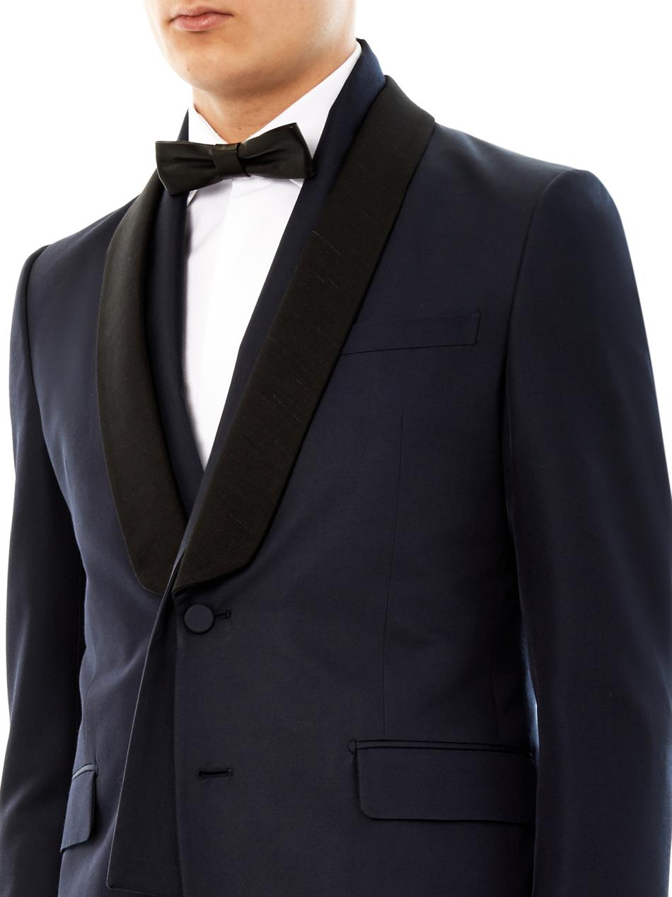 Lyst Valentino Shawl Lapel Wool And Silkblend Tuxedo In