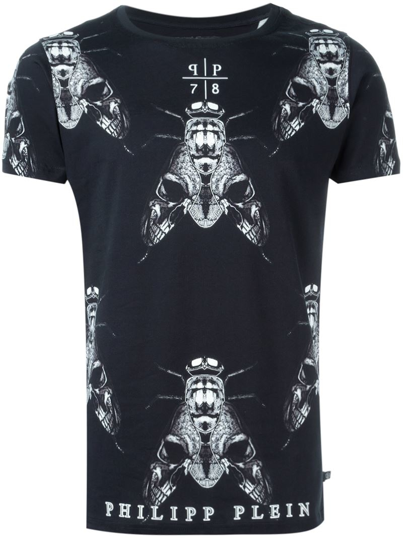 philipp plein times t shirt in black for men lyst. Black Bedroom Furniture Sets. Home Design Ideas