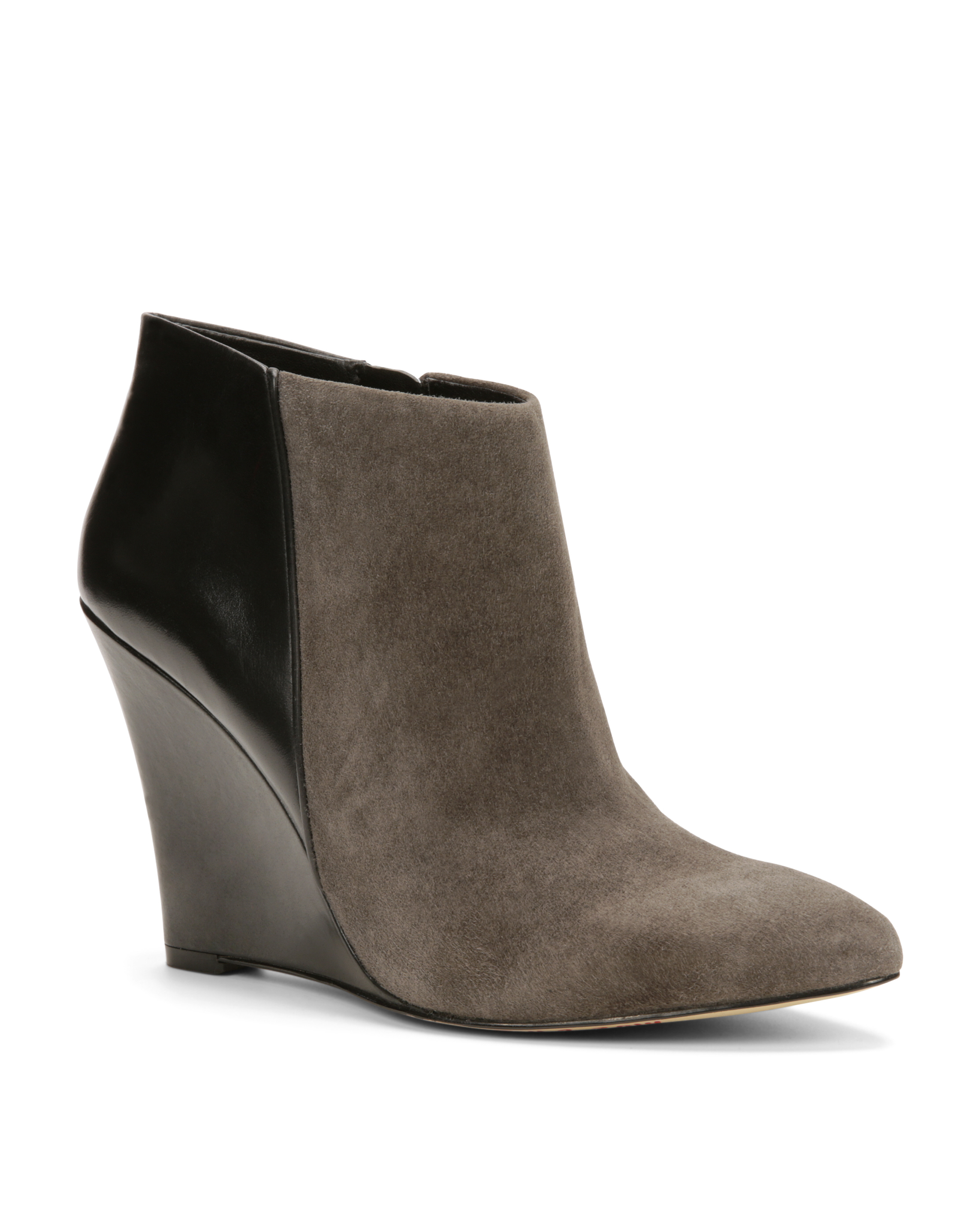 e9ef3903452 Lyst - Ann Taylor Lottie Suede Wedge Boots in Gray