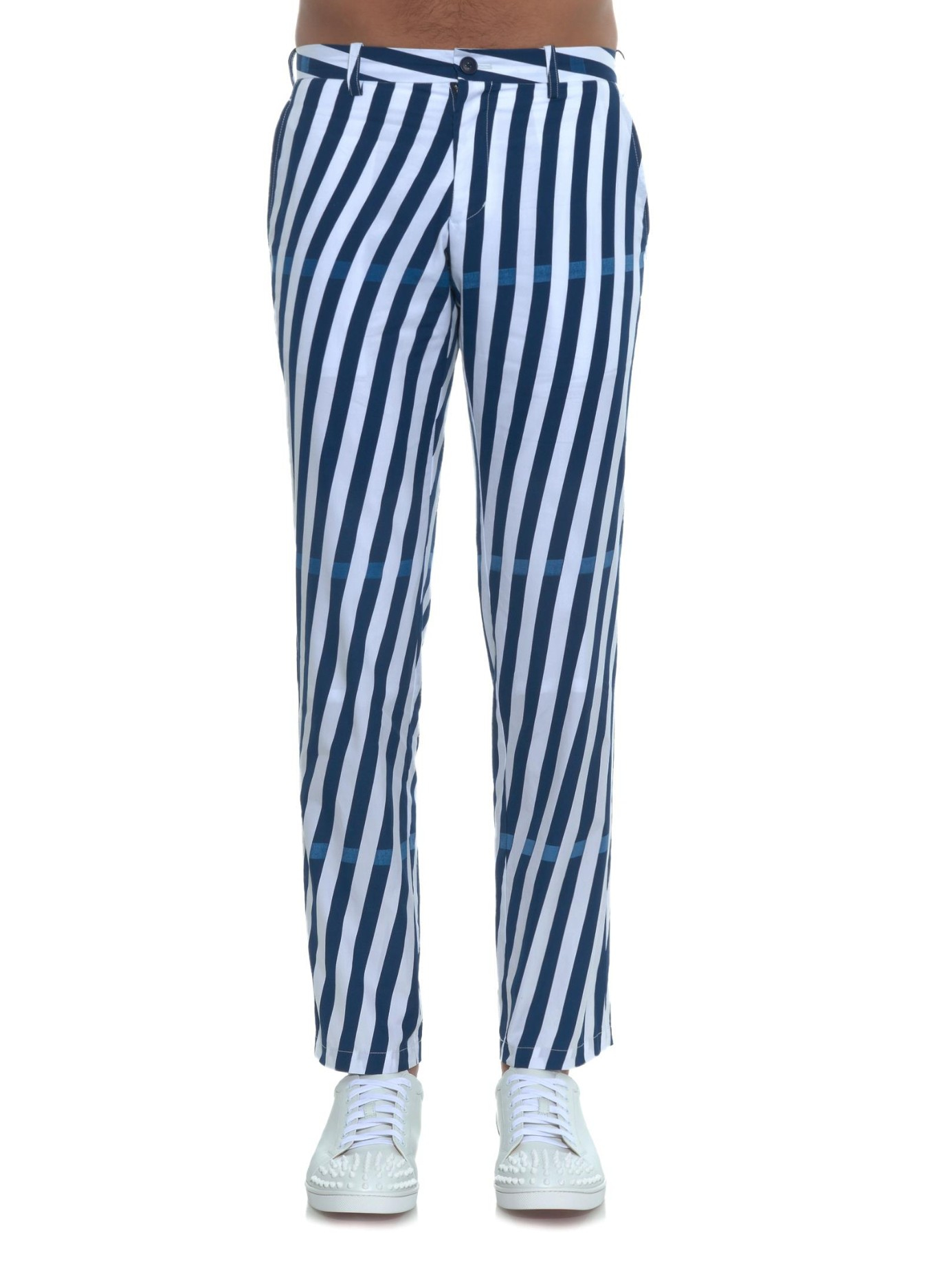 Blue And White Striped Jeans River Island