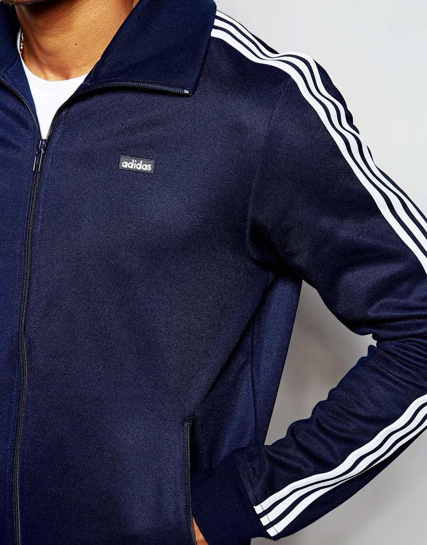 adidas originals beckenbauer track jacket ab7766 in blue. Black Bedroom Furniture Sets. Home Design Ideas