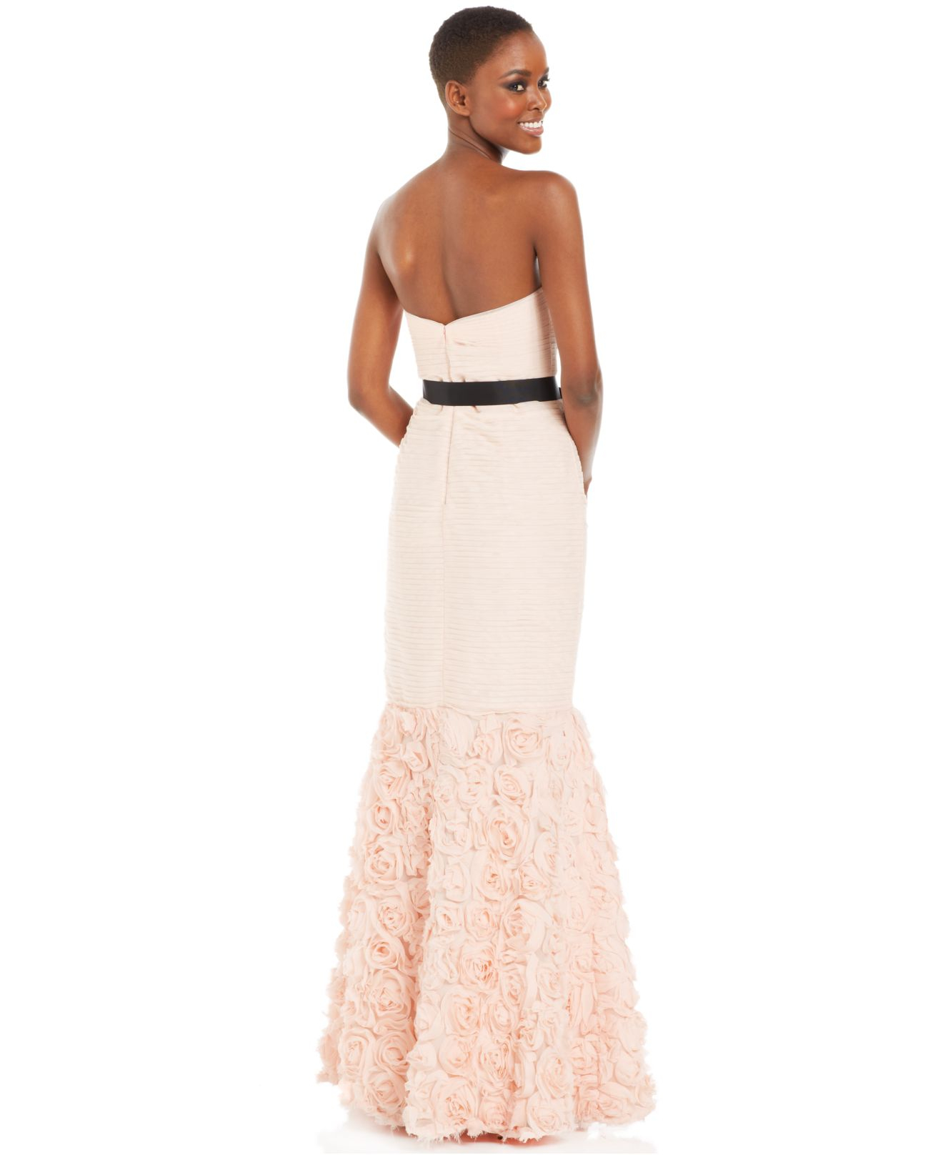 Lyst - Js Collections Strapless Belted Mermaid Gown in Pink