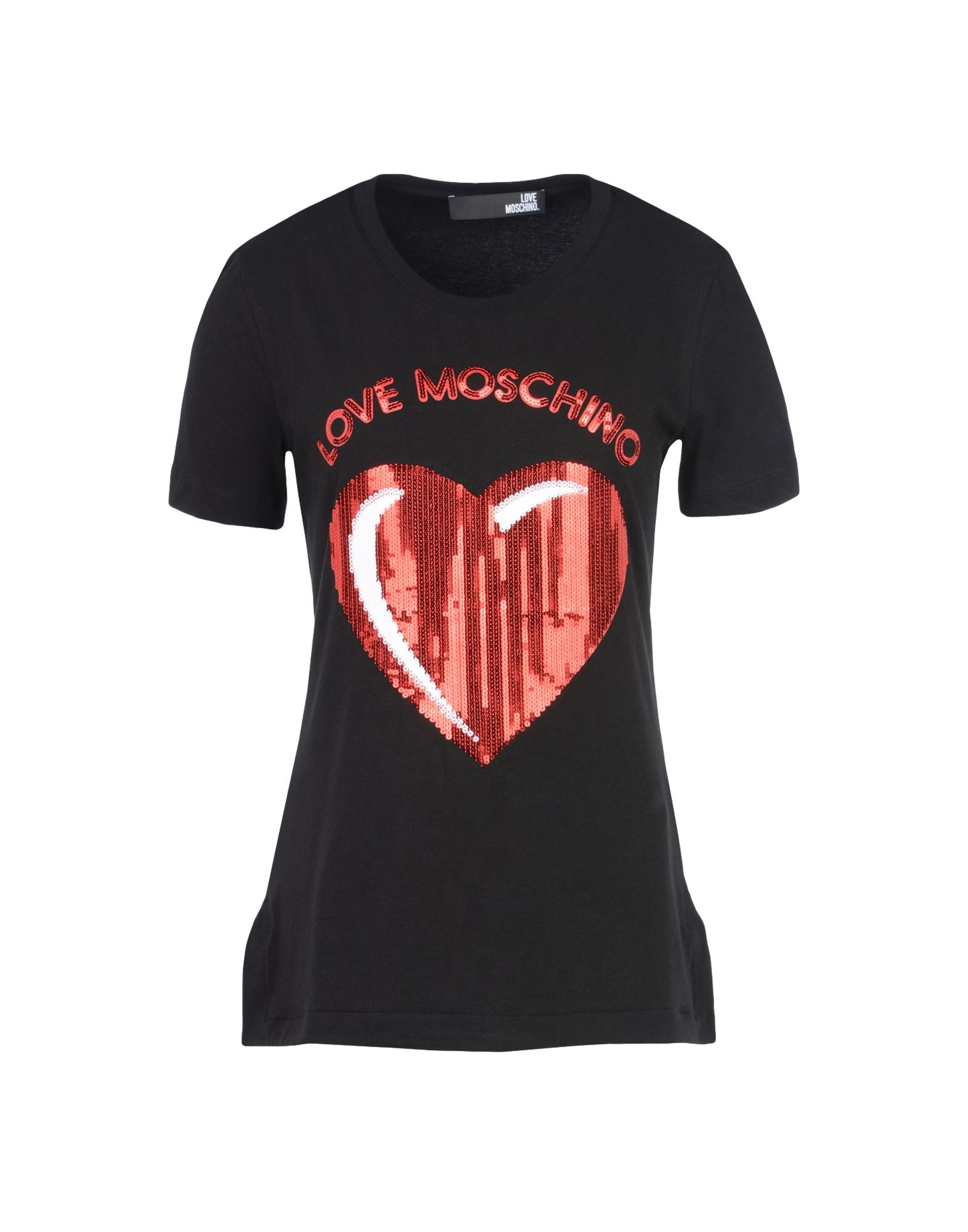 love moschino short sleeve t shirts in black lyst. Black Bedroom Furniture Sets. Home Design Ideas