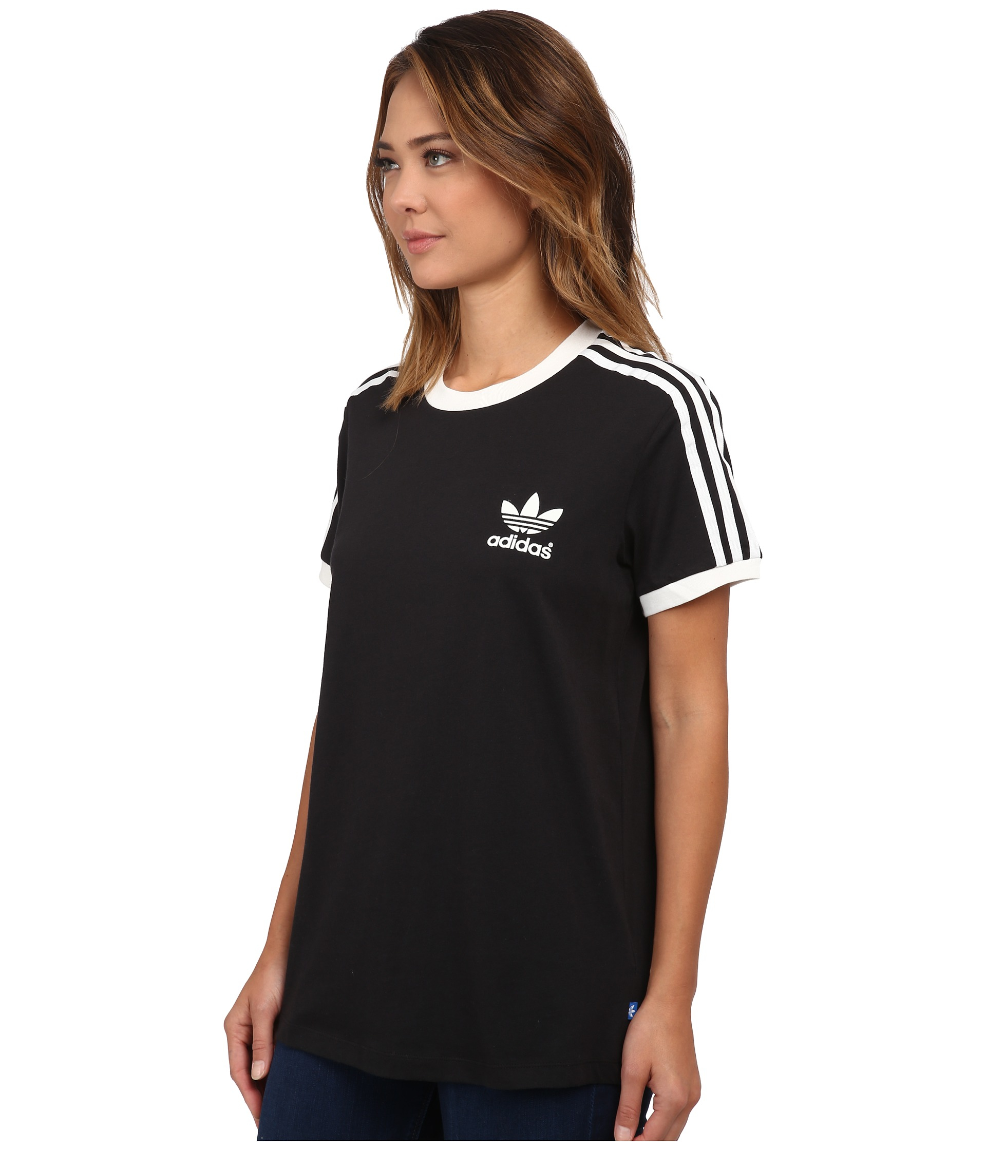 778fd19c49 adidas Originals 3-stripes Tee in Black - Lyst