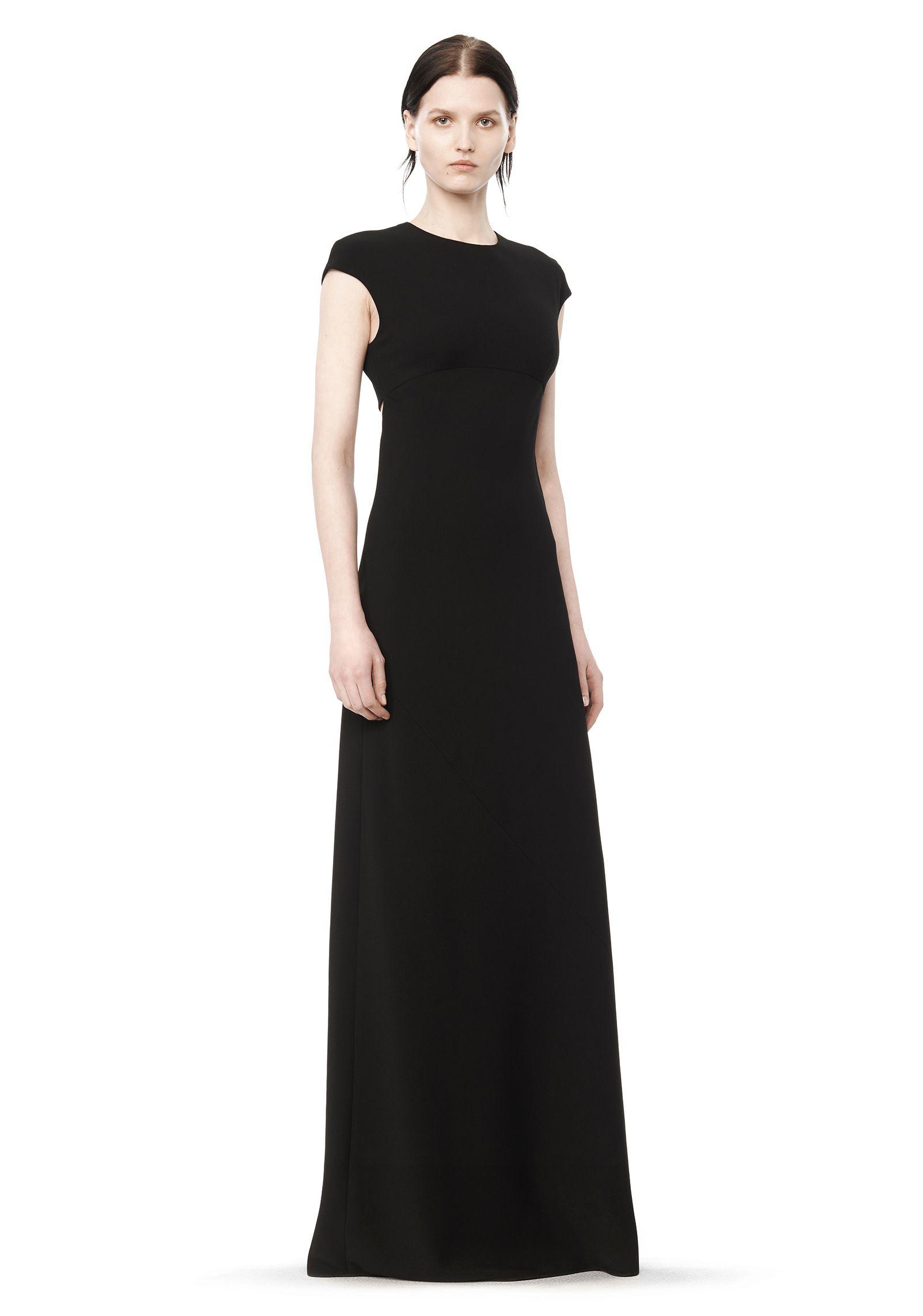 T by alexander wang Open-Back Maxi Dress in Black | Lyst