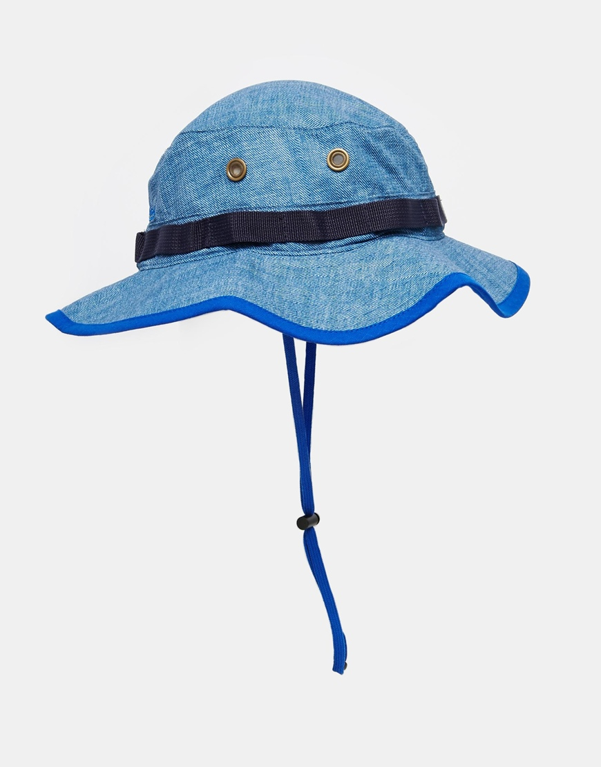 70fc8a19d1e21 Mitchell   Ness Ny Boonie Hat In Denim in Blue for Men - Lyst