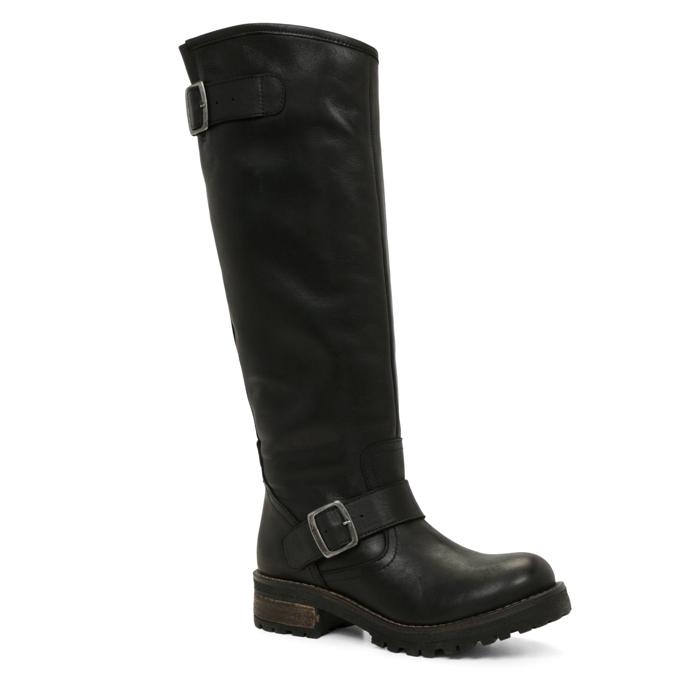 aldo beskra buckle knee high boots in black lyst