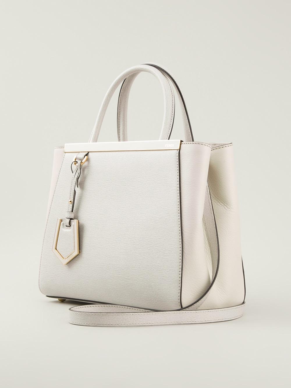 Lyst - Fendi 2jours Tote Bag in White 3f784f08fd4e9