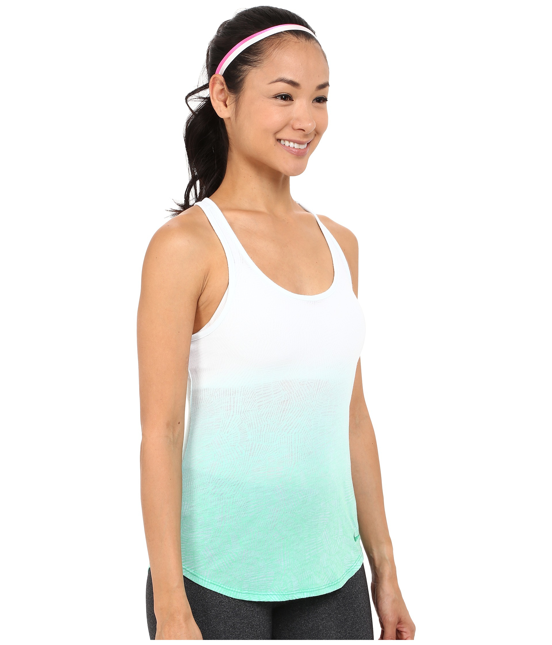 d60a8961cdd30 Lyst - Nike Dri-blend Art Racer Tank Top 1 in Green