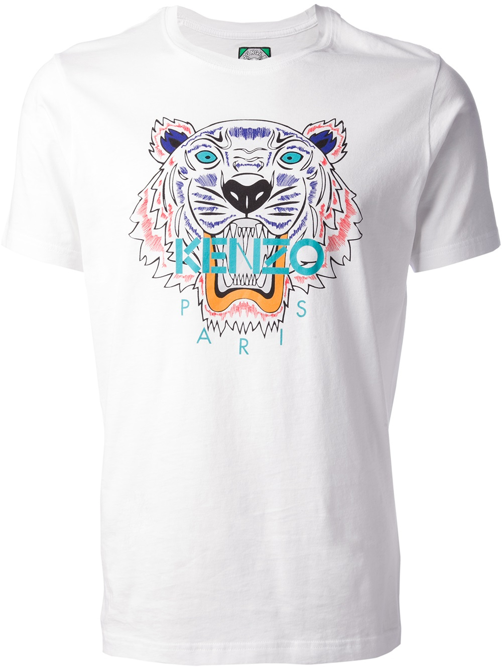 kenzo tiger print tshirt in white for men lyst. Black Bedroom Furniture Sets. Home Design Ideas
