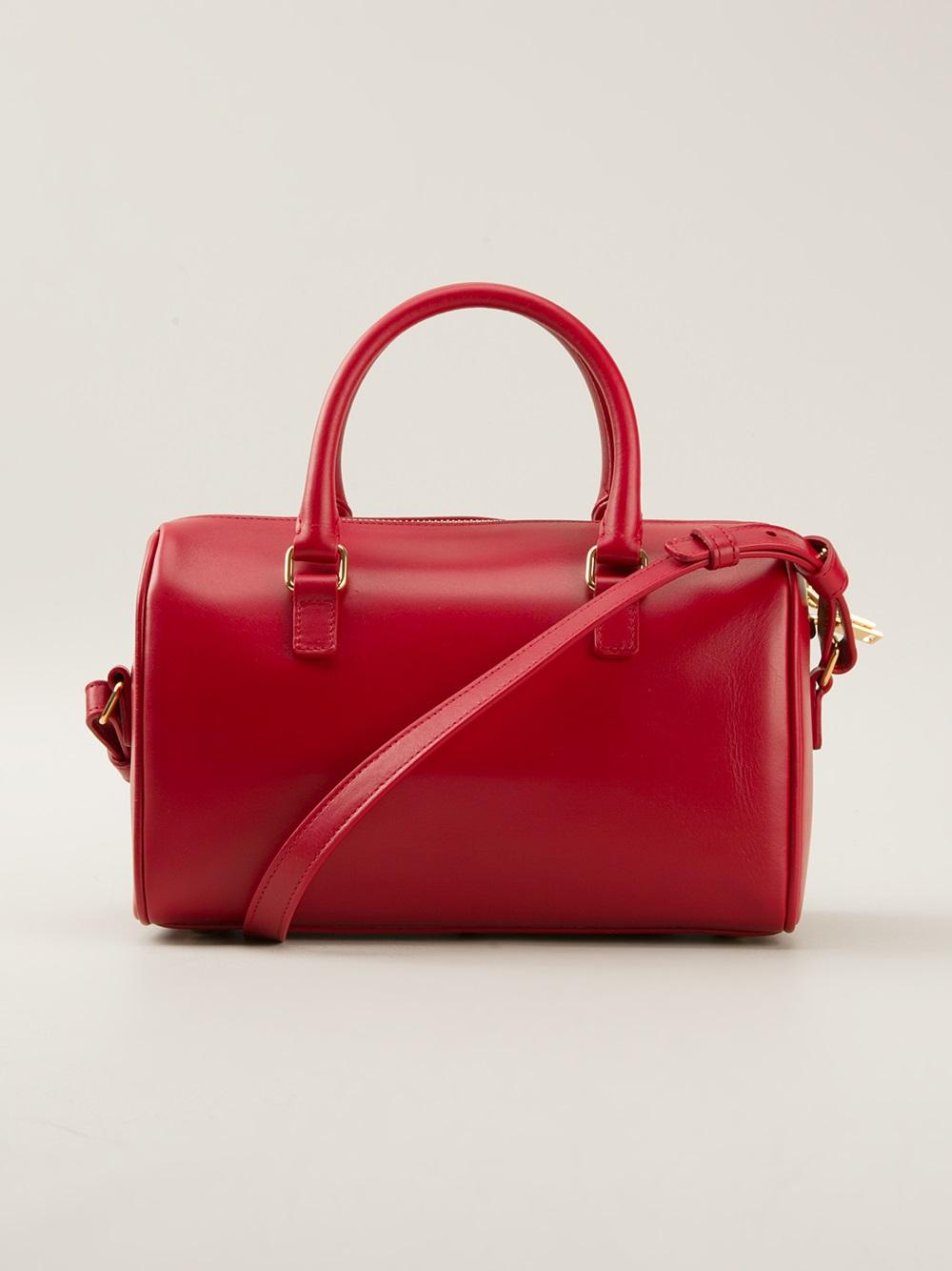 4056b6c343b4 Lyst - Saint Laurent Classic Baby Duffle Bag in Red