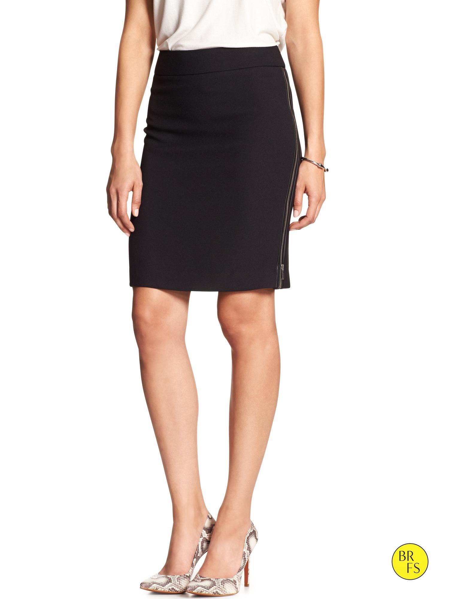d24ed417f0 Banana Republic Factory Side-Zip Pencil Skirt in Black - Lyst