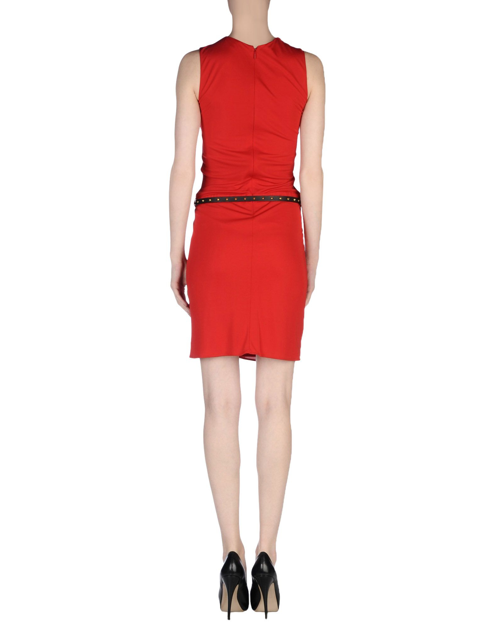 lyst gucci short dress in red