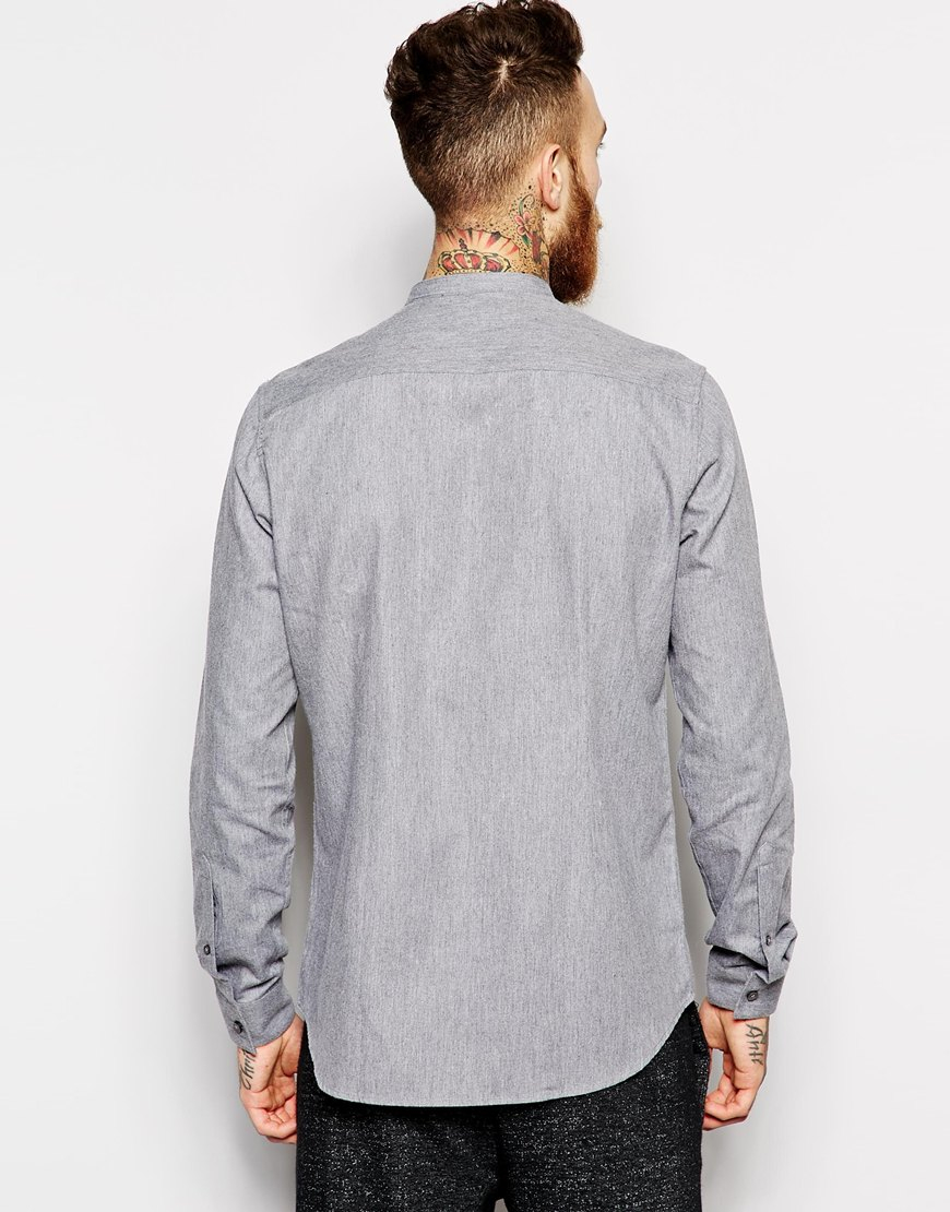 Asos smart shirt in long sleeve with warm handle twill and for Bear river workwear shirts