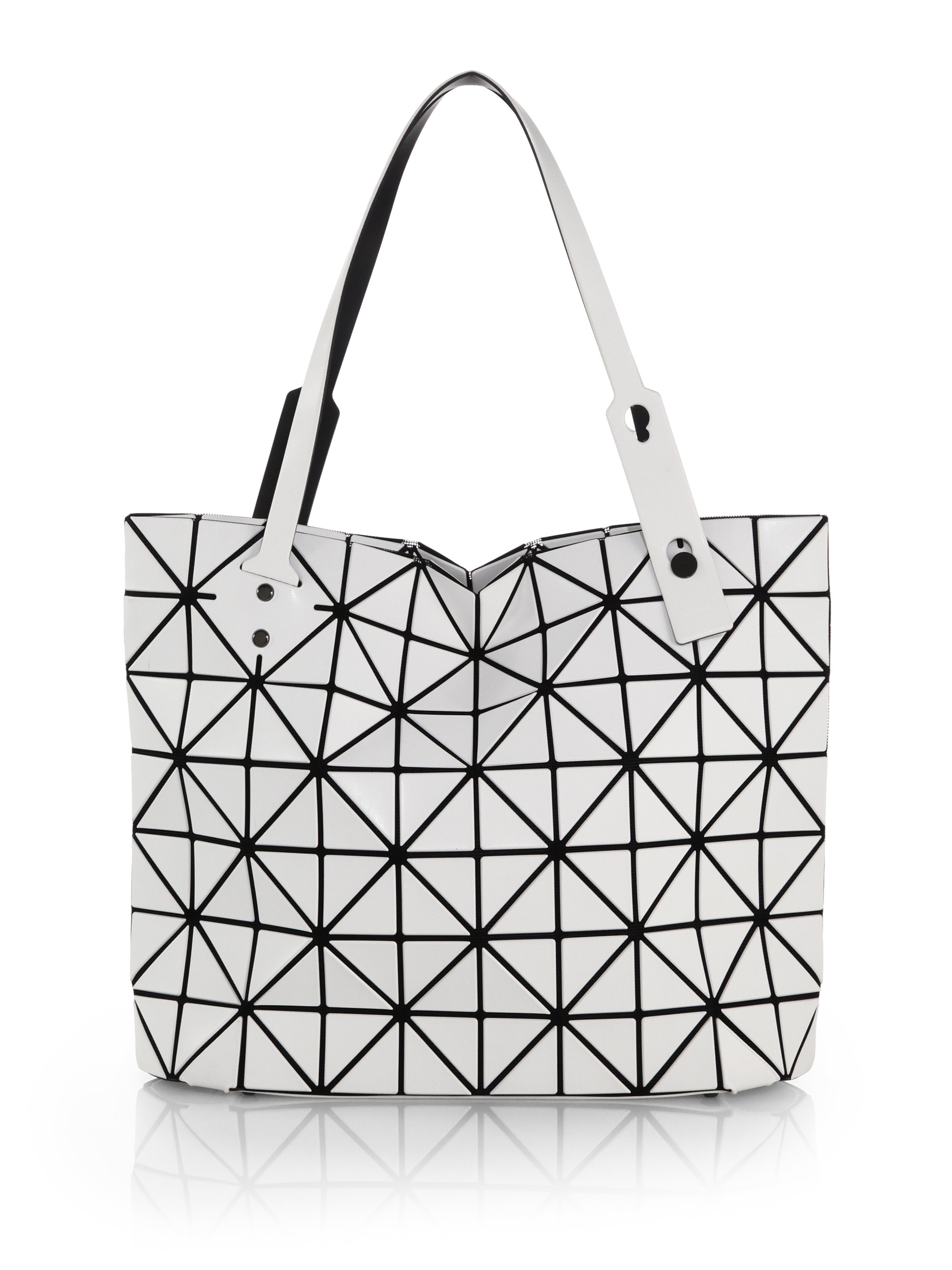 Lyst - Bao Bao Issey Miyake Rock East-west Matte Faux Leather Zip ... e85aed56b4968