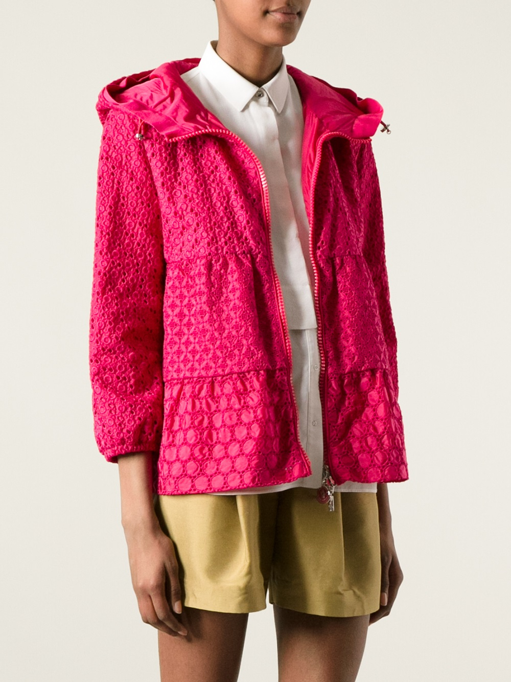Lyst Moncler Etain Jacket In Pink