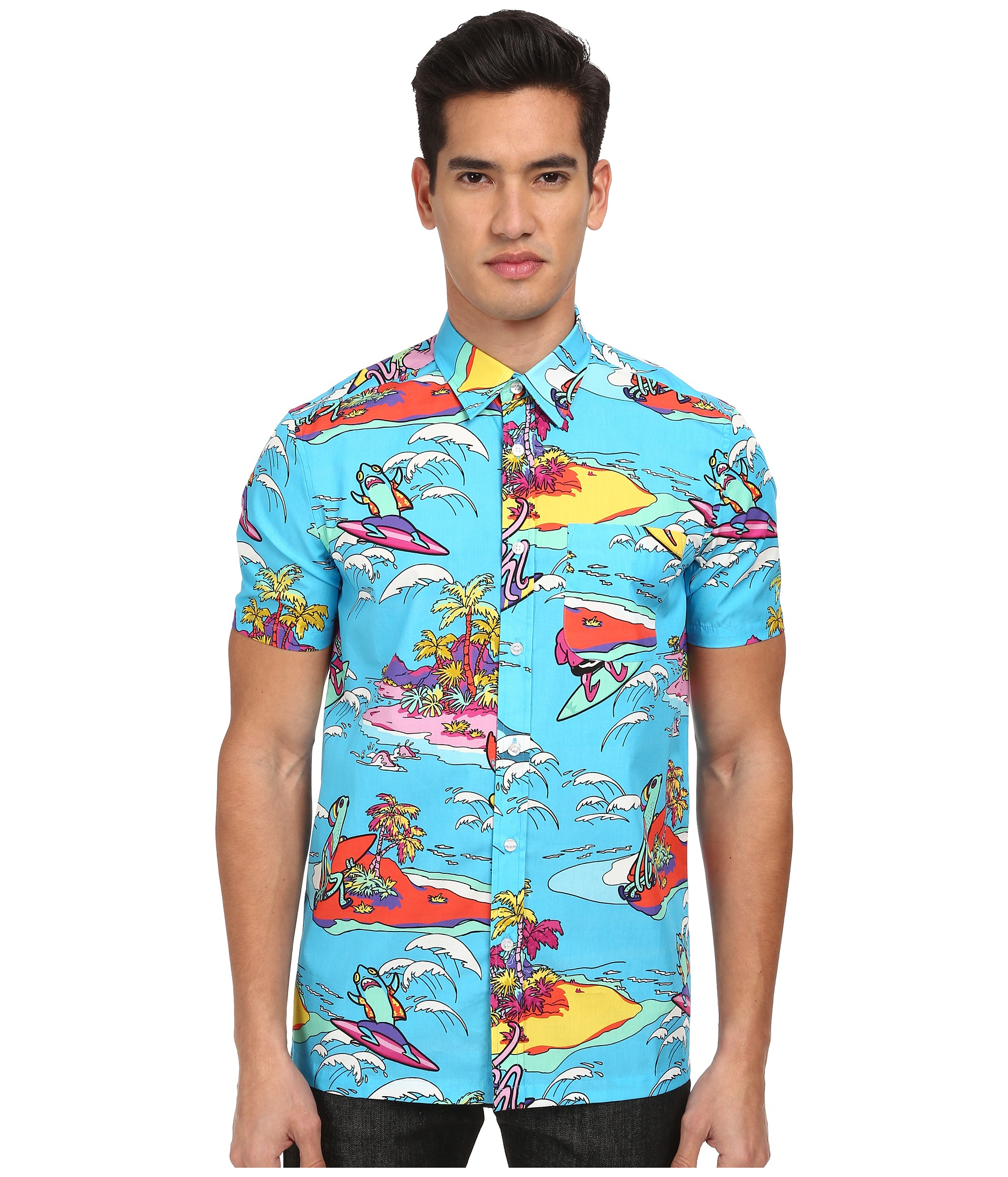 Short sleeve button up shirts for men custom shirt Short sleeve button shirt