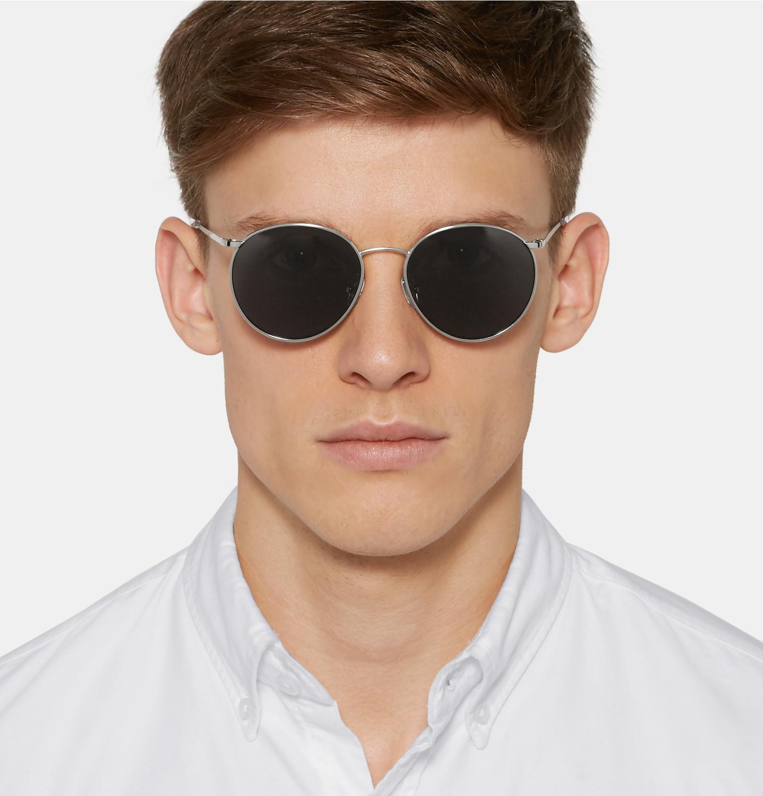 c21da96bb83 Dries Van Noten Round-frame Silver-tone Sunglasses in Metallic for ...