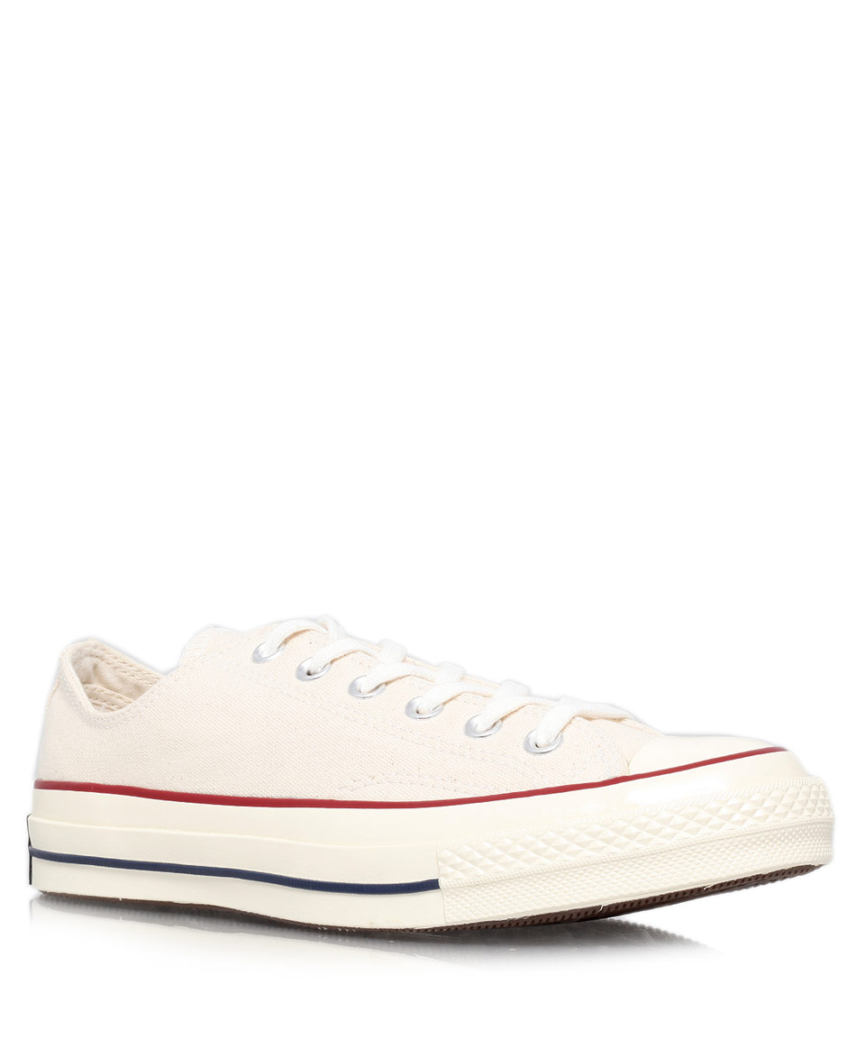 eca390329667 Lyst - Converse Cream 70S Chuck Taylor Canvas Low Trainers in ...