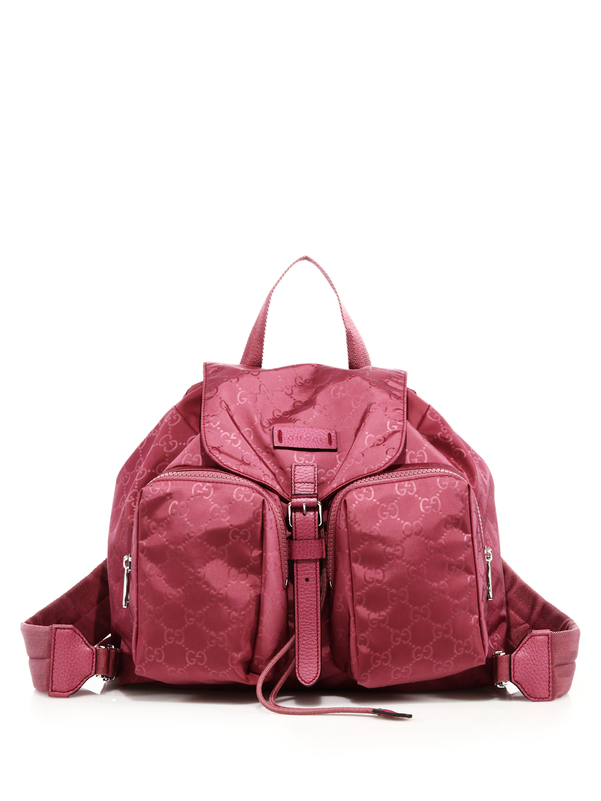 Lyst - Gucci Nylon Ssima Light Backpack in Pink aee52d67784c8