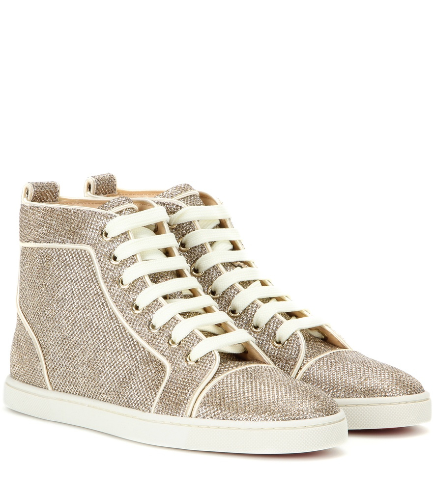 christian louboutin heels replica - Christian louboutin Bip Bip High-top Sneakers in Gold | Lyst