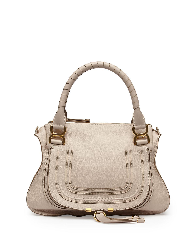 chlo marcie medium shoulder bag in white lyst. Black Bedroom Furniture Sets. Home Design Ideas