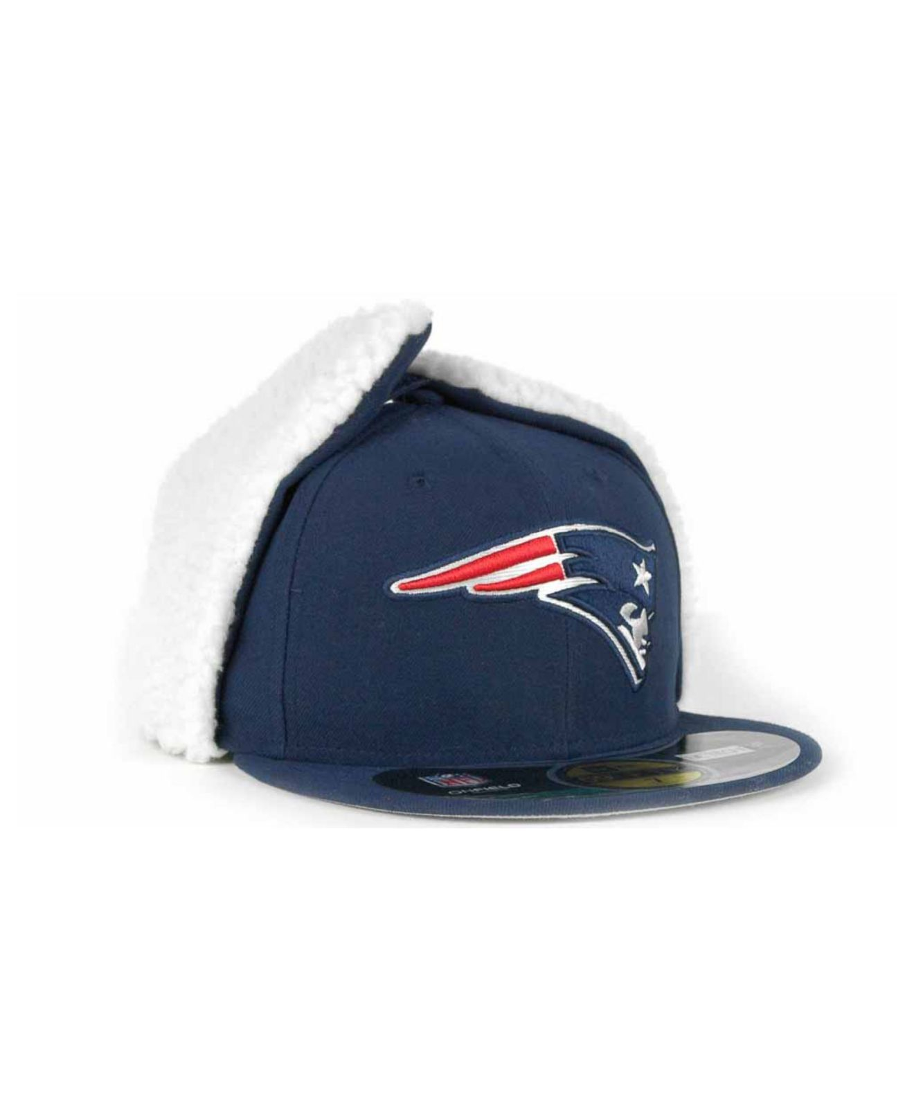 size 40 1aeef fd17b KTZ New England Patriots On-Field Dog Ear 59Fifty Cap in Blue for ...