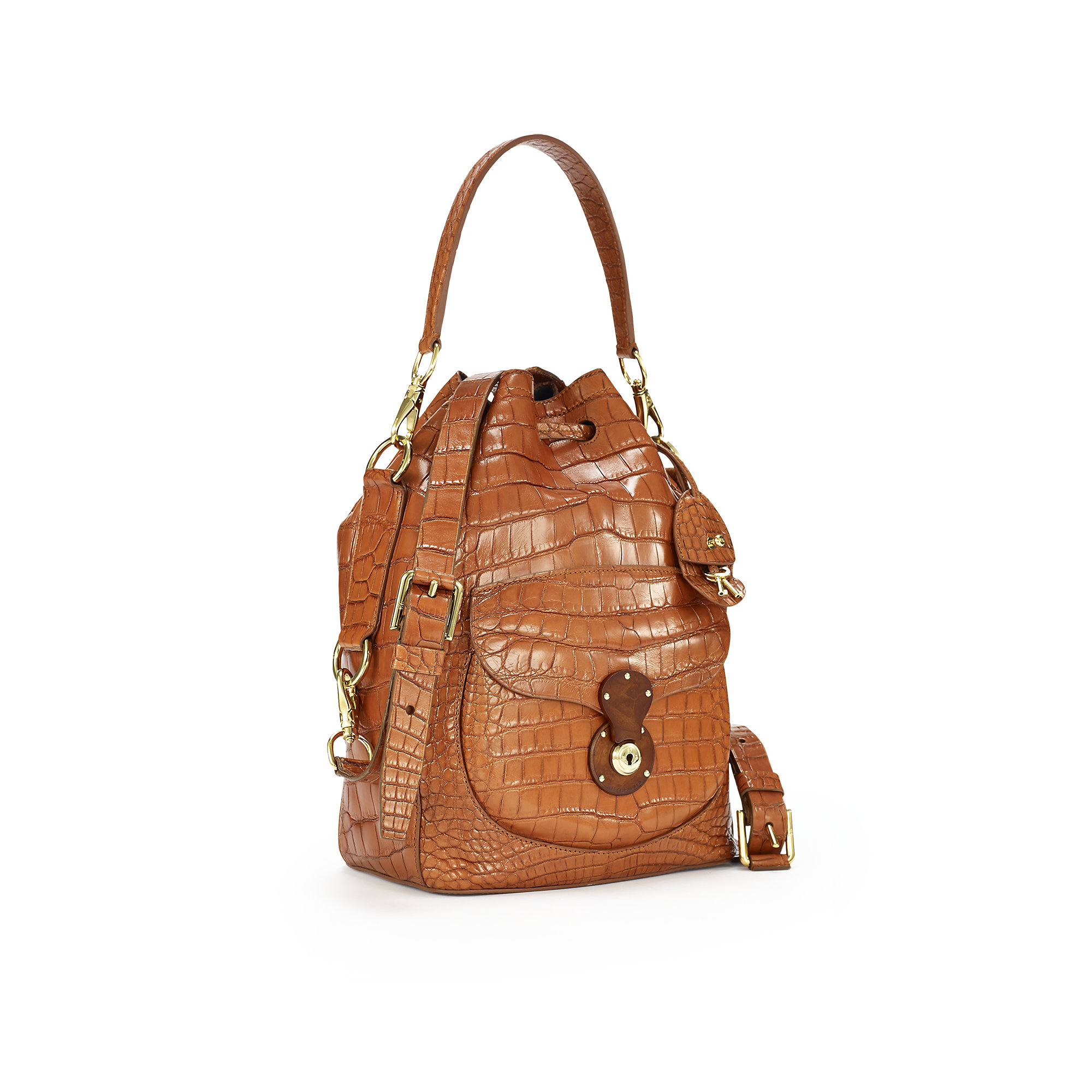 2be5352dba Lyst - Pink Pony Alligator Ricky Drawstring Bag in Brown