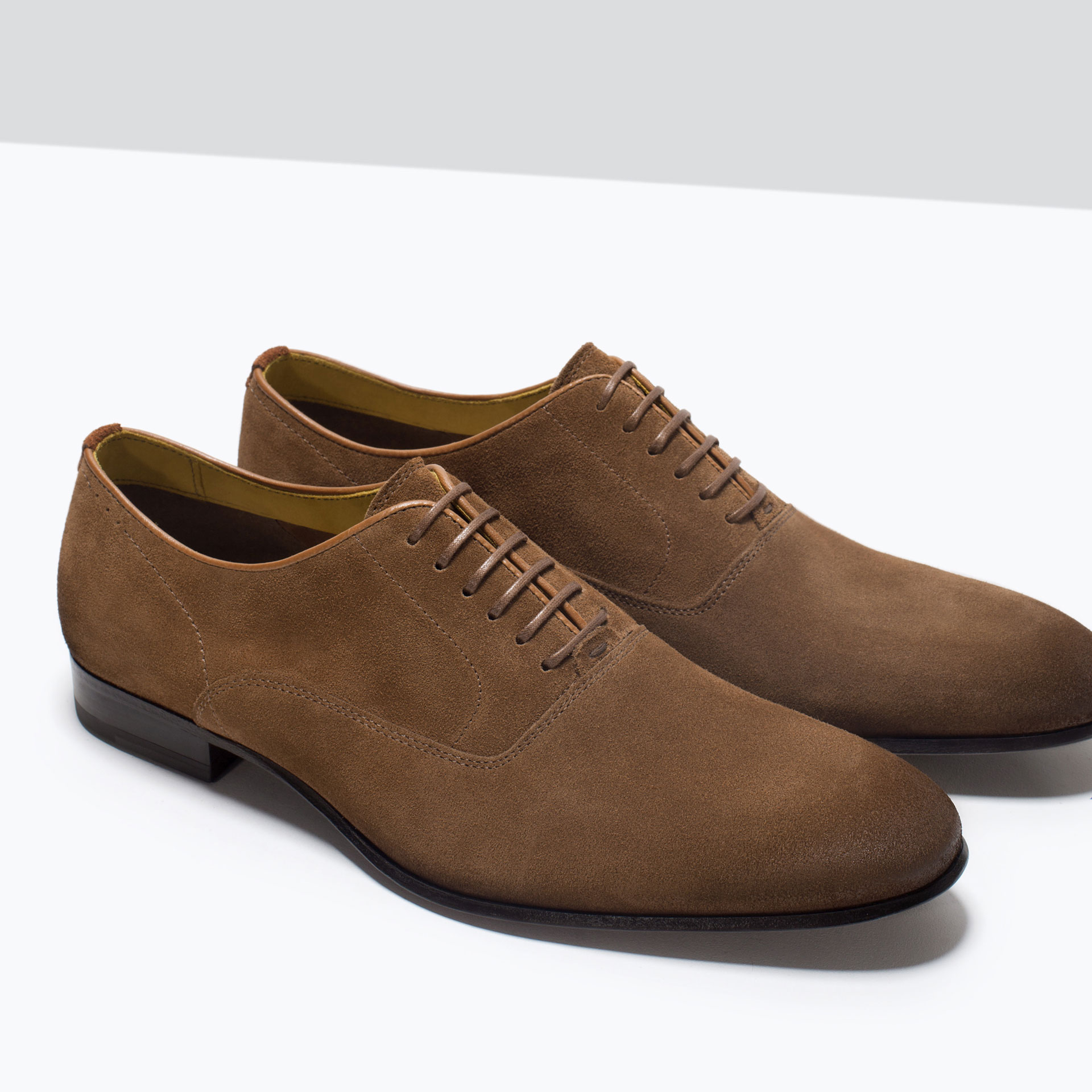 Jefferson Hack collaboration, Brown suede Oxford shoes, Fabric and leather lining, leather and rubber soles, Made in Italy, Comes with a branded dust bag and spare laces Color: brownPrice: $