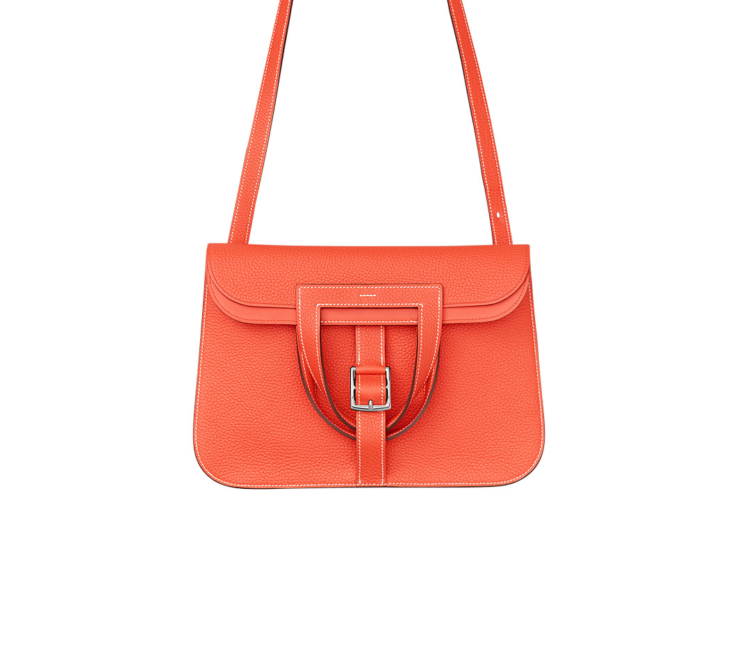 hermes mens wallets - Herm��s Halzan Mini in Red (poppy orange/orange) | Lyst