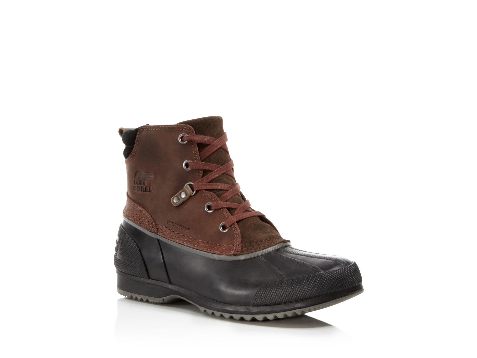 sorel ankeny mid boots in brown for lyst