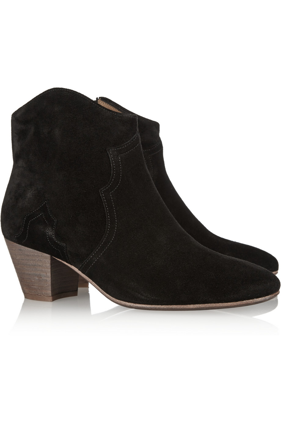 isabel marant the dicker suede ankle boots in black lyst. Black Bedroom Furniture Sets. Home Design Ideas