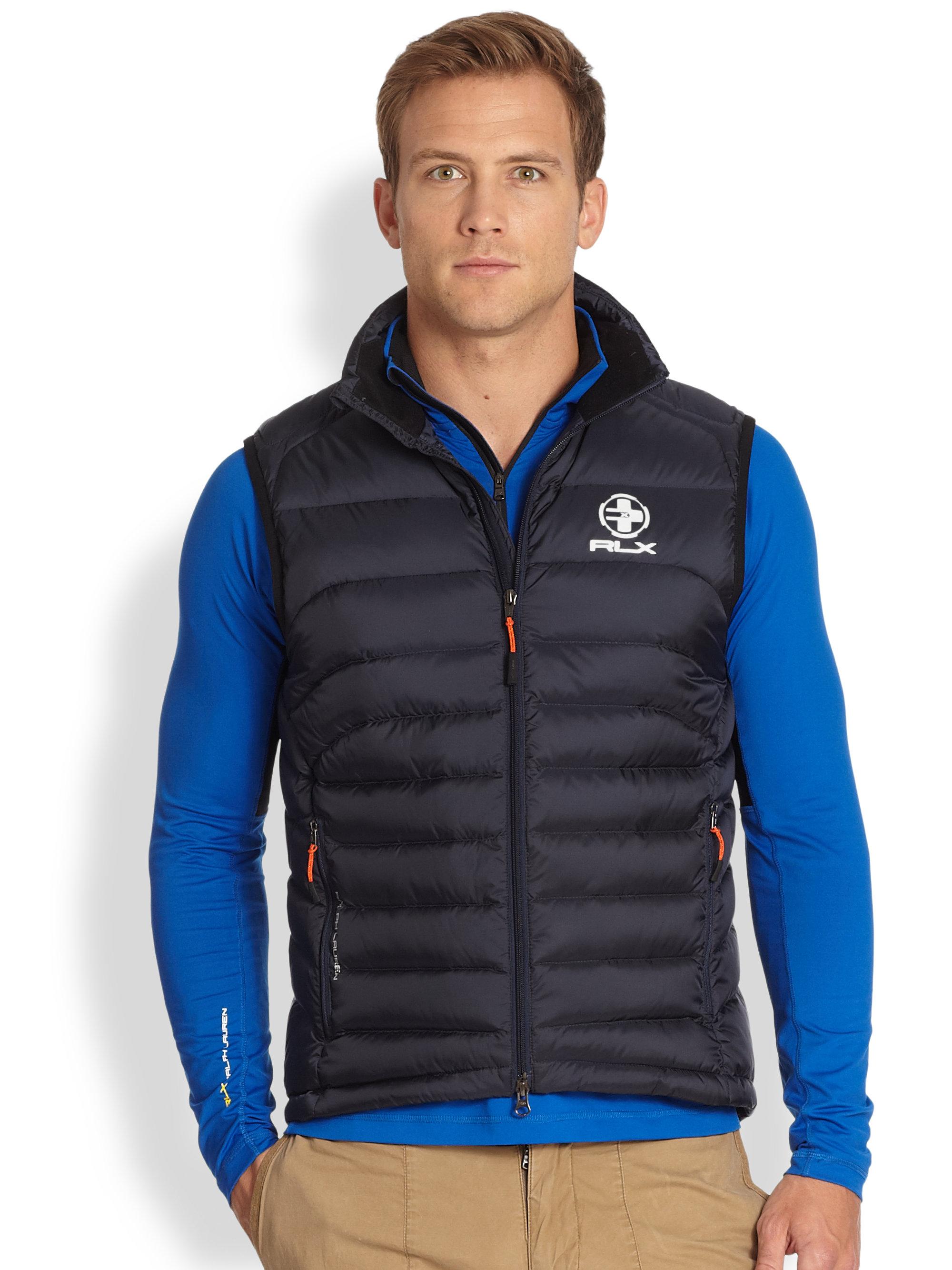 RLX Ralph Lauren Explorer Down Vest in Black for Men - Lyst