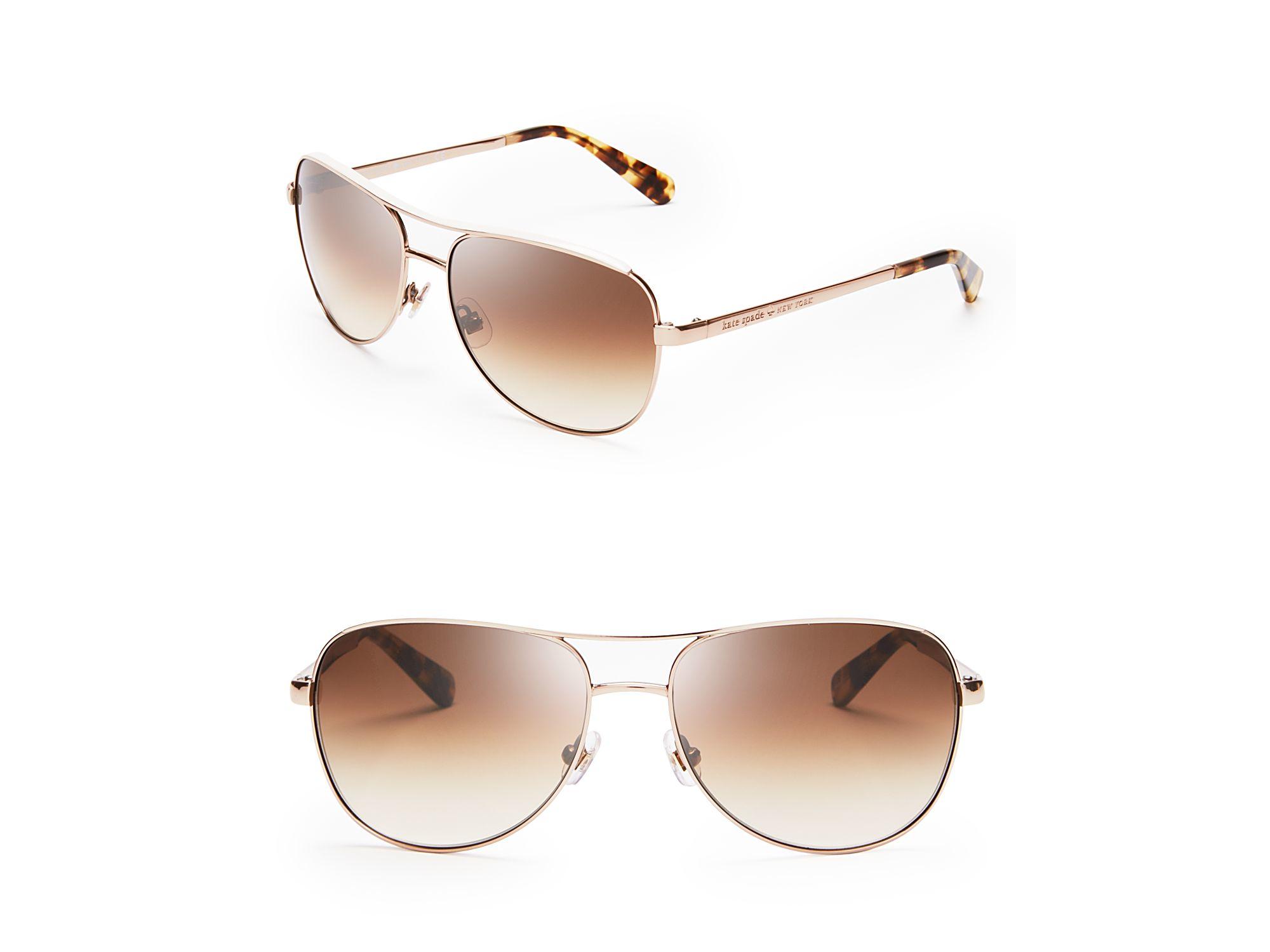 d1d2906760 Lyst - Kate Spade Dusty Aviator Sunglasses in Pink