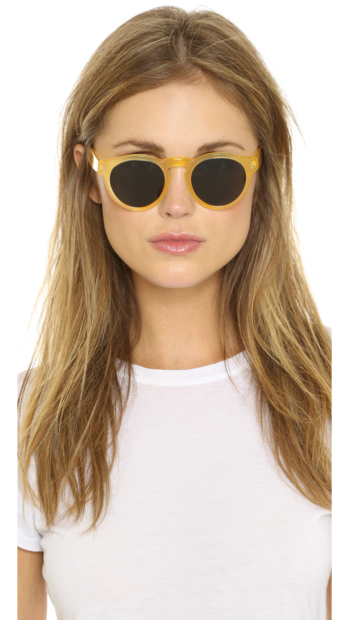 47848bc0a5d9 Illesteva Leonard Sunglasses - Blonde/black in Yellow - Lyst