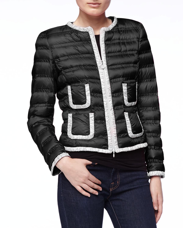 moncler jacket black and white