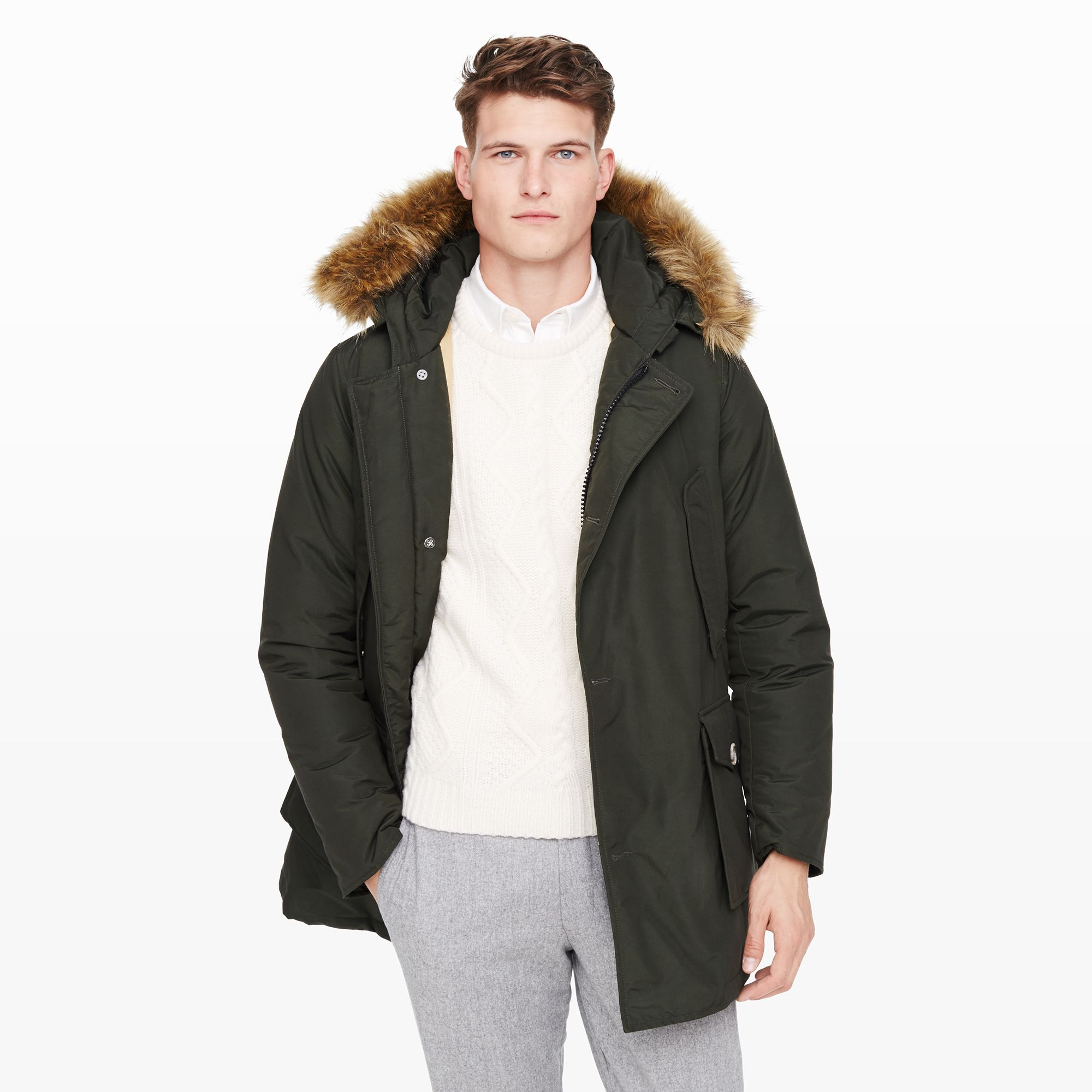 Lyst - Club Monaco Woolrich Arctic Parka in Green for Men f0cda68333