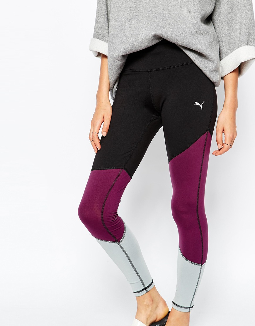 Lyst - PUMA Leggings With Colour Block b8cc7f8da