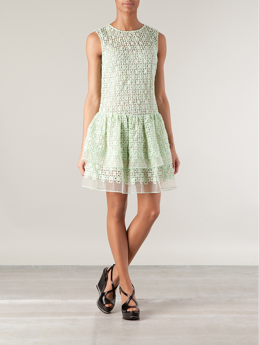 Green flared dress Red Valentino