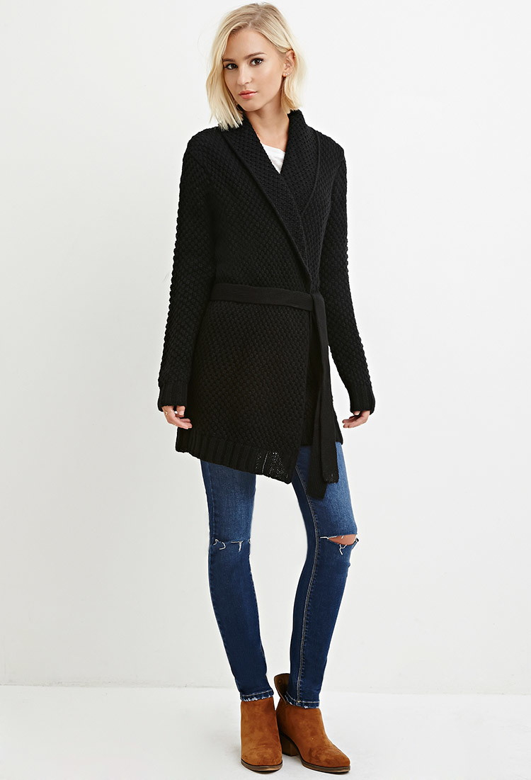 Forever 21 Belted Longline Cardigan You've Been Added To The ...