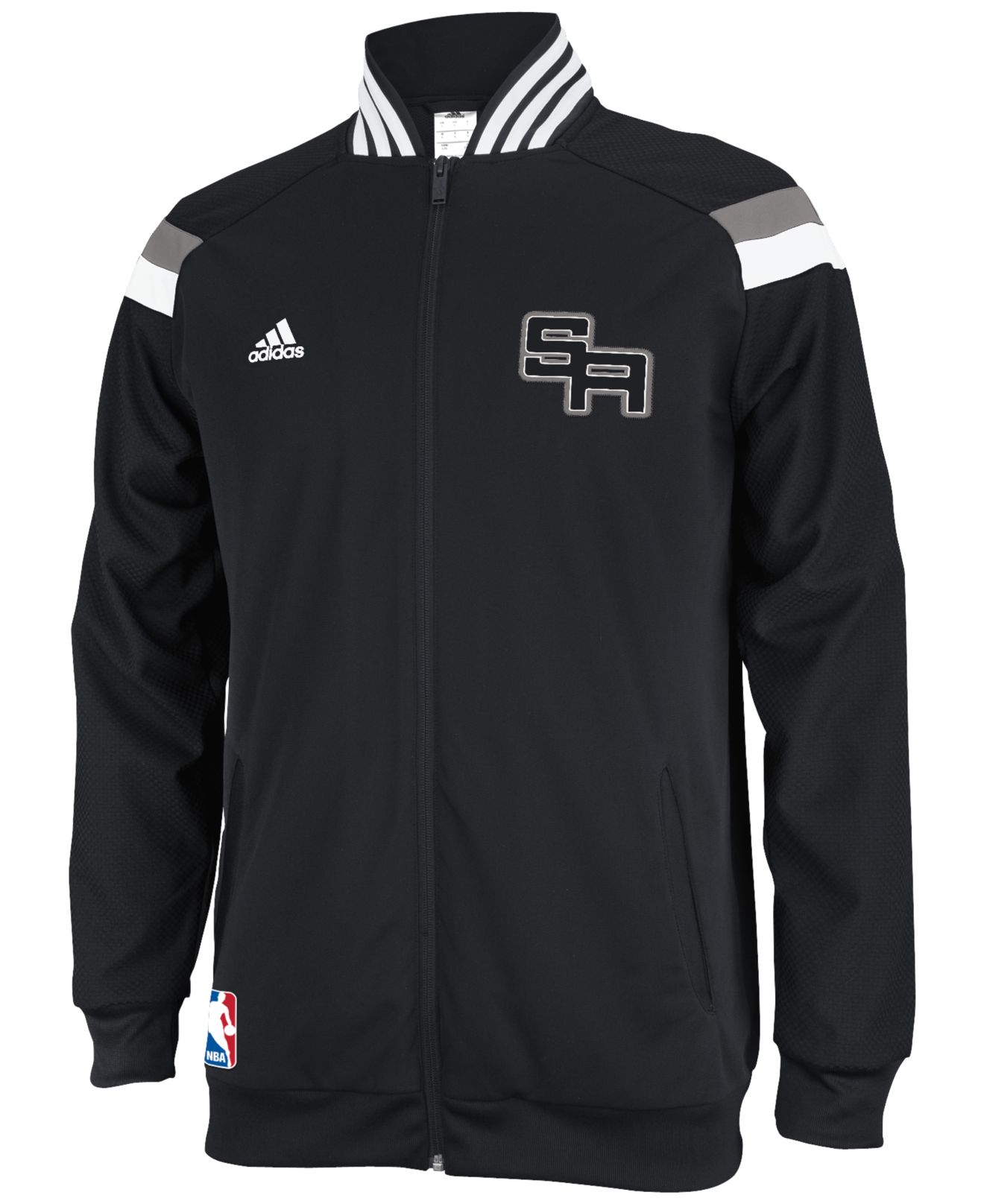 Lyst Adidas Men S San Antonio Spurs On Court Jacket In