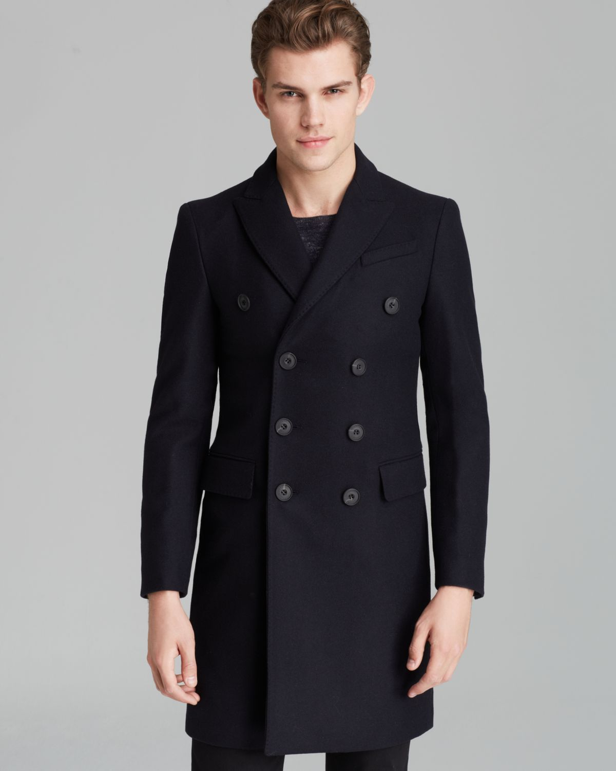 Burberry London Grosvenor Double Breasted Coat in Natural for Men ...