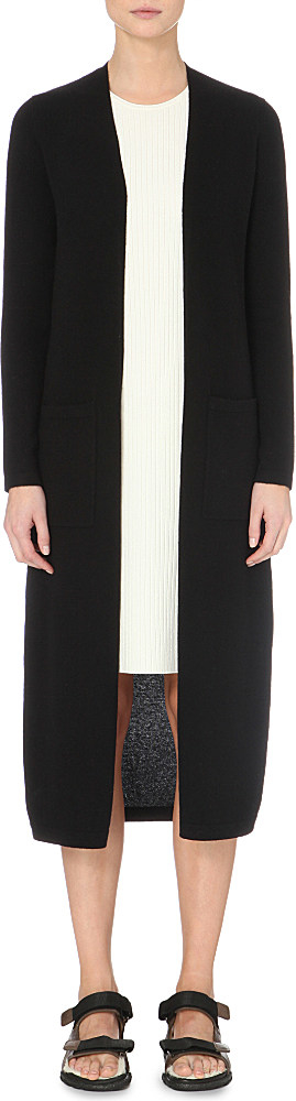 Theory Torina Long Cashmere Cardigan in Black | Lyst