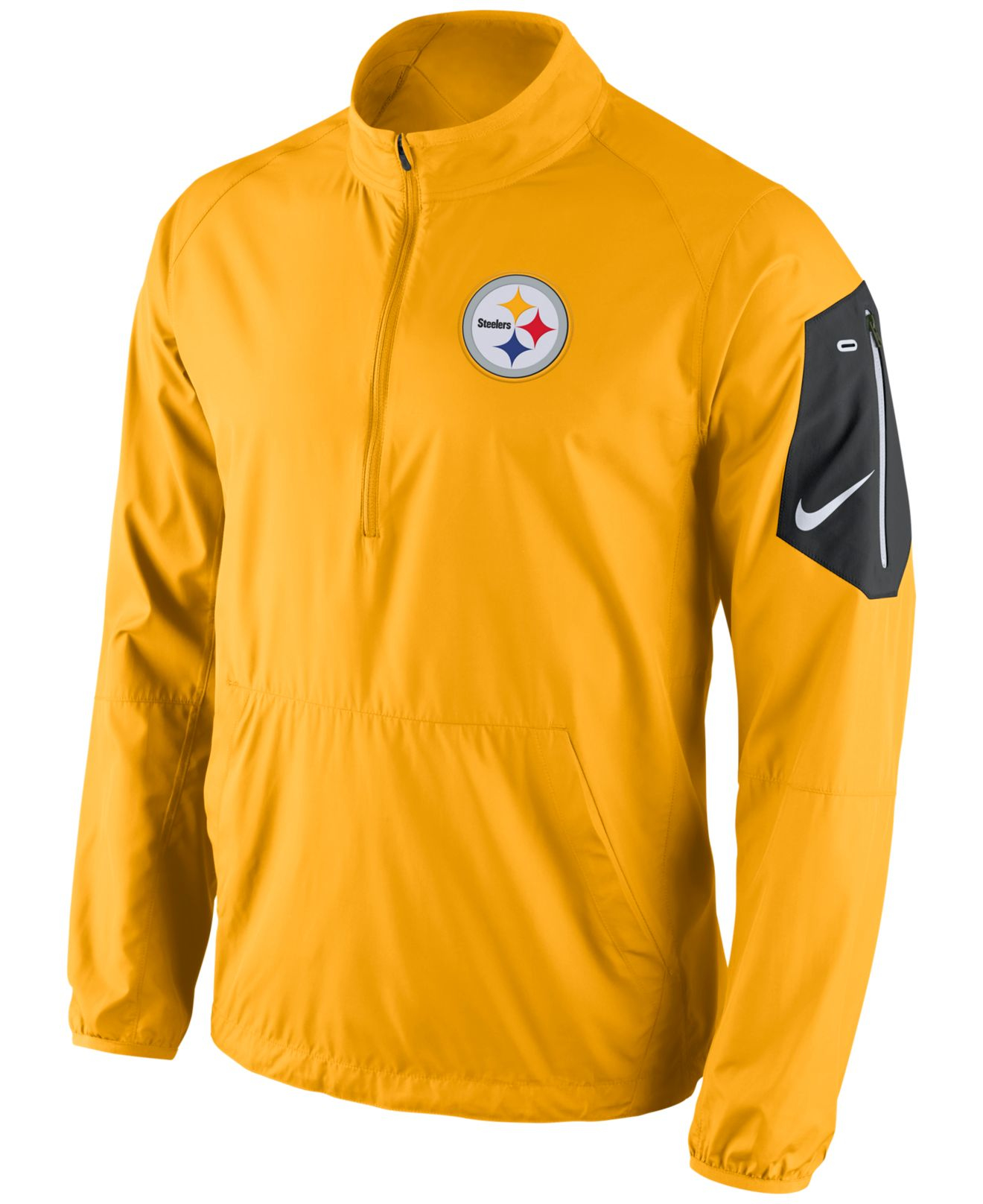 792322325a6 ... T-shirts 21 Nike Mens Pittsburgh Steelers Lockdown Half-zip Jacket in  Ye .