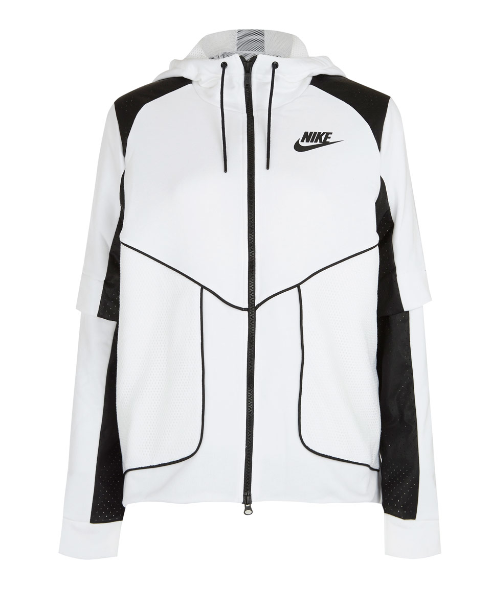 1846e78d99 Lyst - Nike White Perforated Full-zip Hoodie Jacket in White
