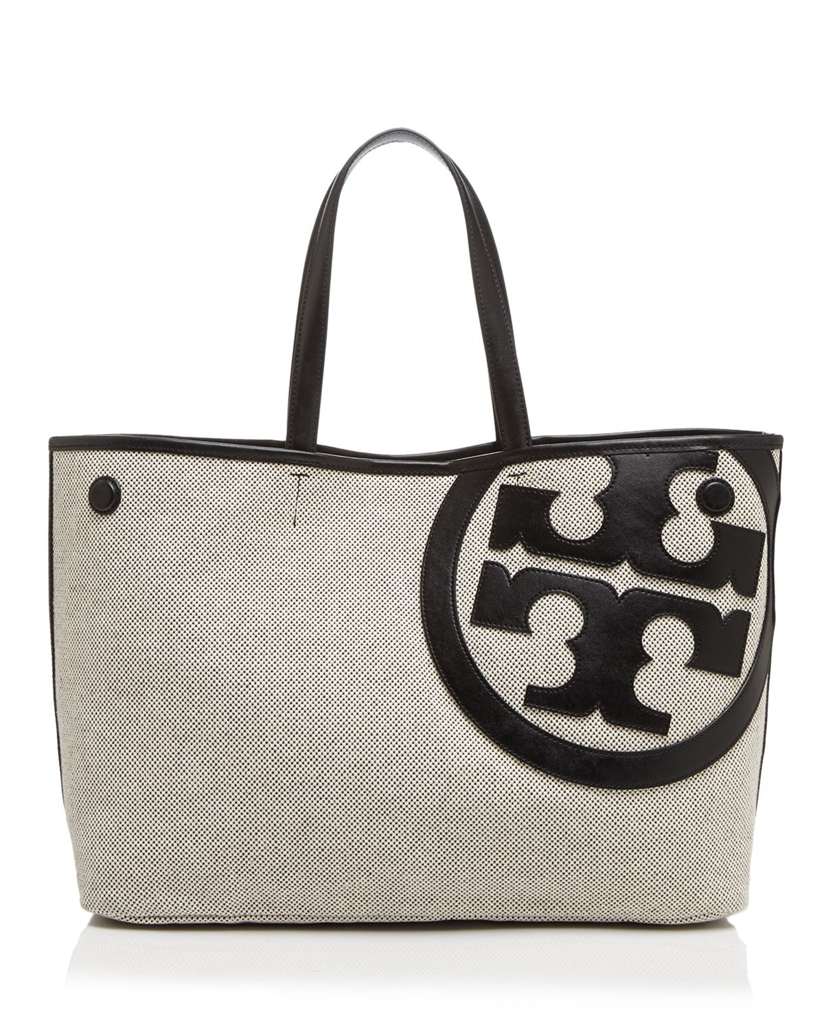 Lyst Tory Burch Tote Lonnie Canvas In Black